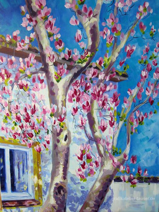Magnolienbaum-in-Seebruck-50-x-70